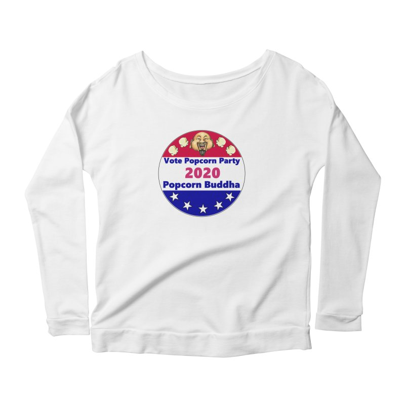 Popcorn Party 2020 Women's Scoop Neck Longsleeve T-Shirt by Popcorn Buddha Merchandise