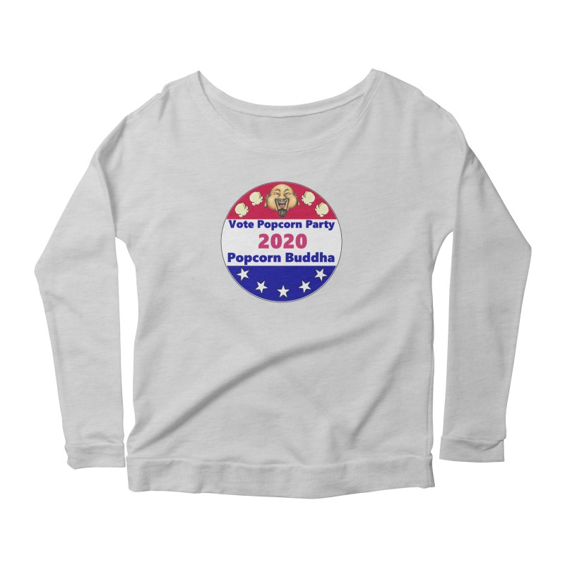 Popcorn Party 2020 Women's Scoop Neck Longsleeve T-Shirt by Popcorn Buddha Merchandise