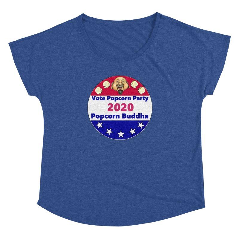 Popcorn Party 2020 Women's Dolman Scoop Neck by Popcorn Buddha Merchandise