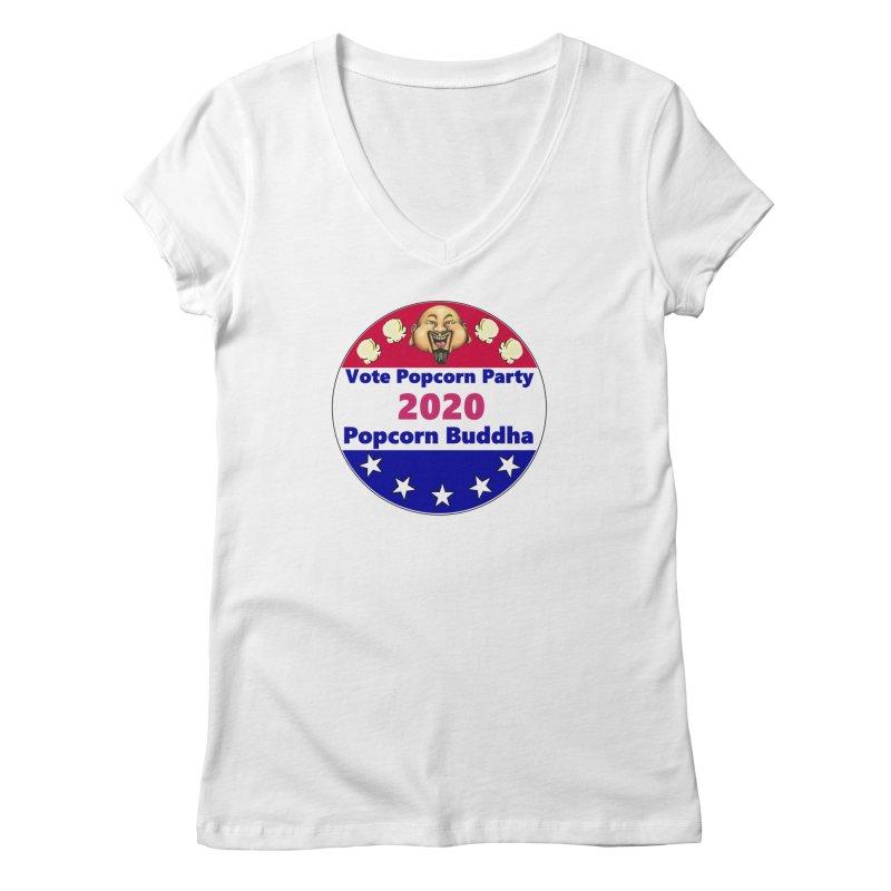 Popcorn Party 2020 Women's Regular V-Neck by Popcorn Buddha Merchandise