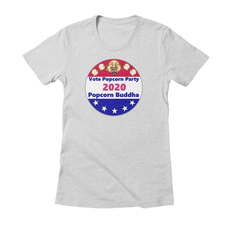Popcorn Party 2020 Women's Fitted T-Shirt by Popcorn Buddha Merchandise