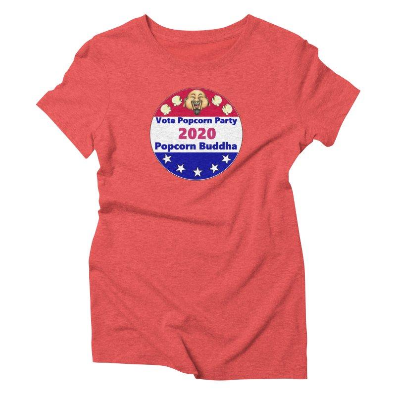Popcorn Party 2020 Women's Triblend T-Shirt by Popcorn Buddha Merchandise