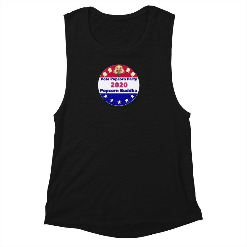 Popcorn Party 2020 Women's Muscle Tank by Popcorn Buddha Merchandise