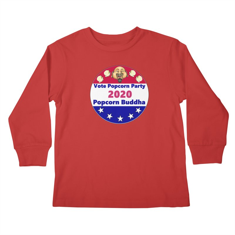 Popcorn Party 2020 Kids Longsleeve T-Shirt by Popcorn Buddha Merchandise