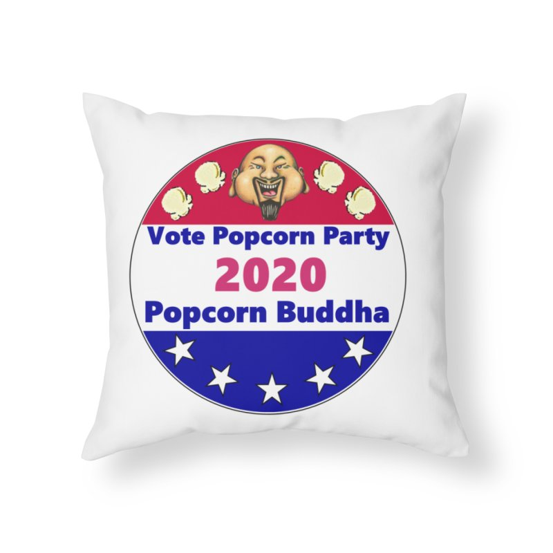 Popcorn Party 2020 Home Throw Pillow by Popcorn Buddha Merchandise
