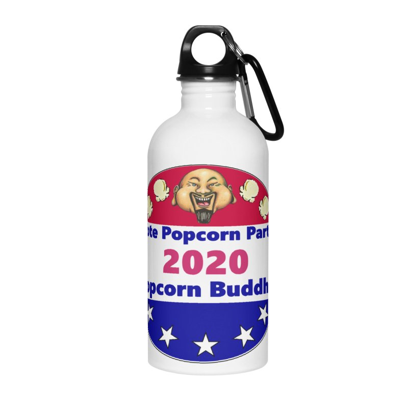 Popcorn Party 2020 Accessories Water Bottle by Popcorn Buddha Merchandise