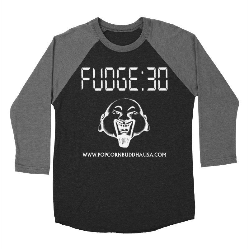 Fudge 30 Men's Baseball Triblend Longsleeve T-Shirt by Popcorn Buddha Merchandise