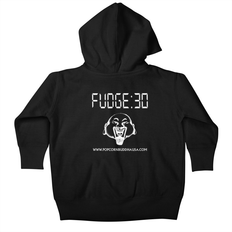 Fudge 30 Kids Baby Zip-Up Hoody by Popcorn Buddha Merchandise