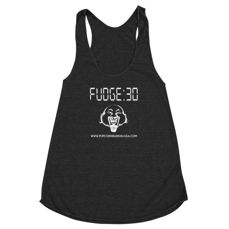 Fudge 30 Women's Racerback Triblend Tank by Popcorn Buddha Merchandise