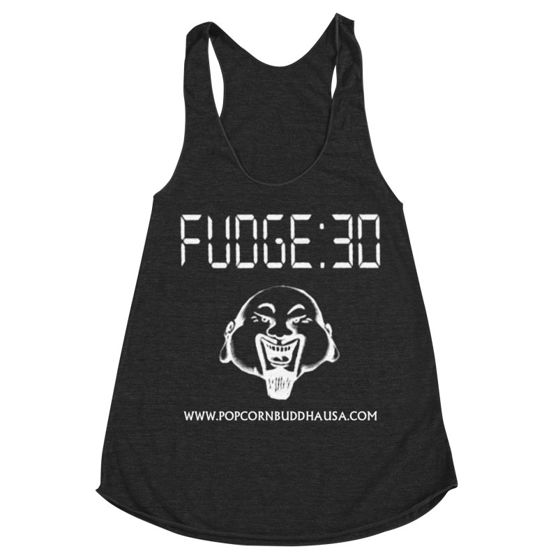 Fudge 30 Women's Racerback Triblend Tank by Popcorn Buddha Merchandise