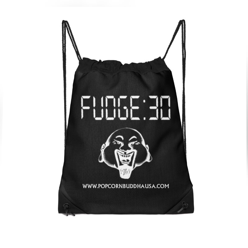 Fudge 30 Accessories Drawstring Bag Bag by Popcorn Buddha Merchandise
