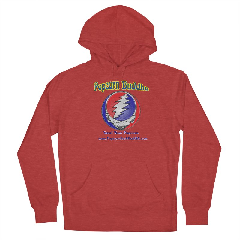 Steal your Popcorn Women's French Terry Pullover Hoody by Popcorn Buddha Merchandise
