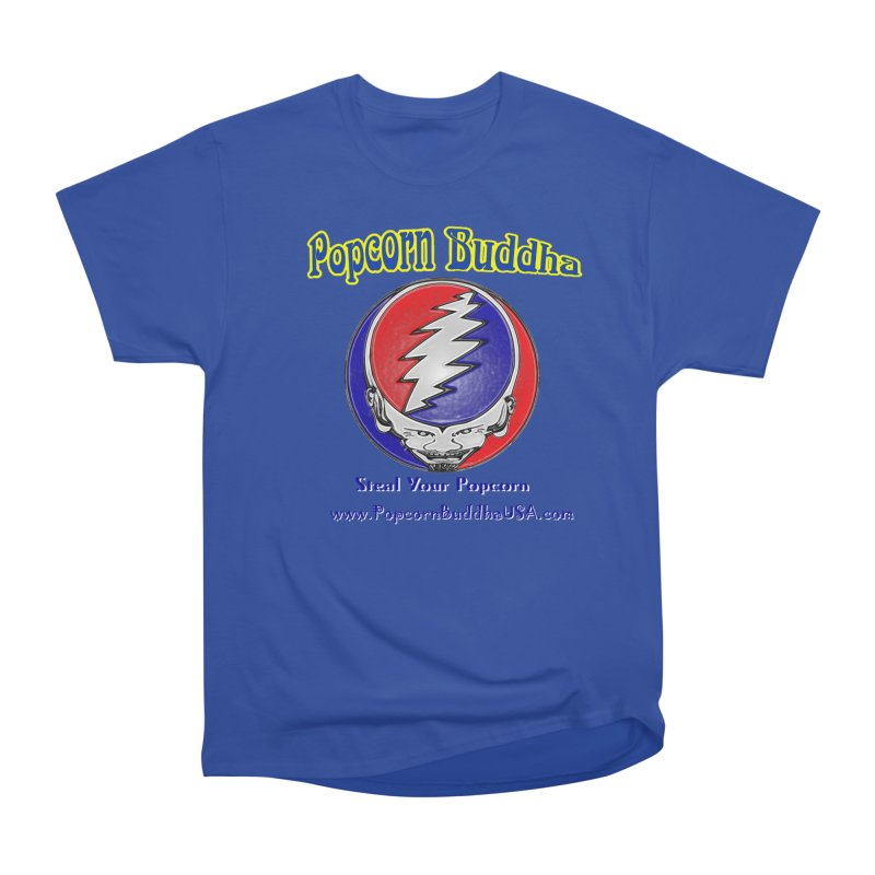 Steal your Popcorn Men's Heavyweight T-Shirt by Popcorn Buddha Merchandise