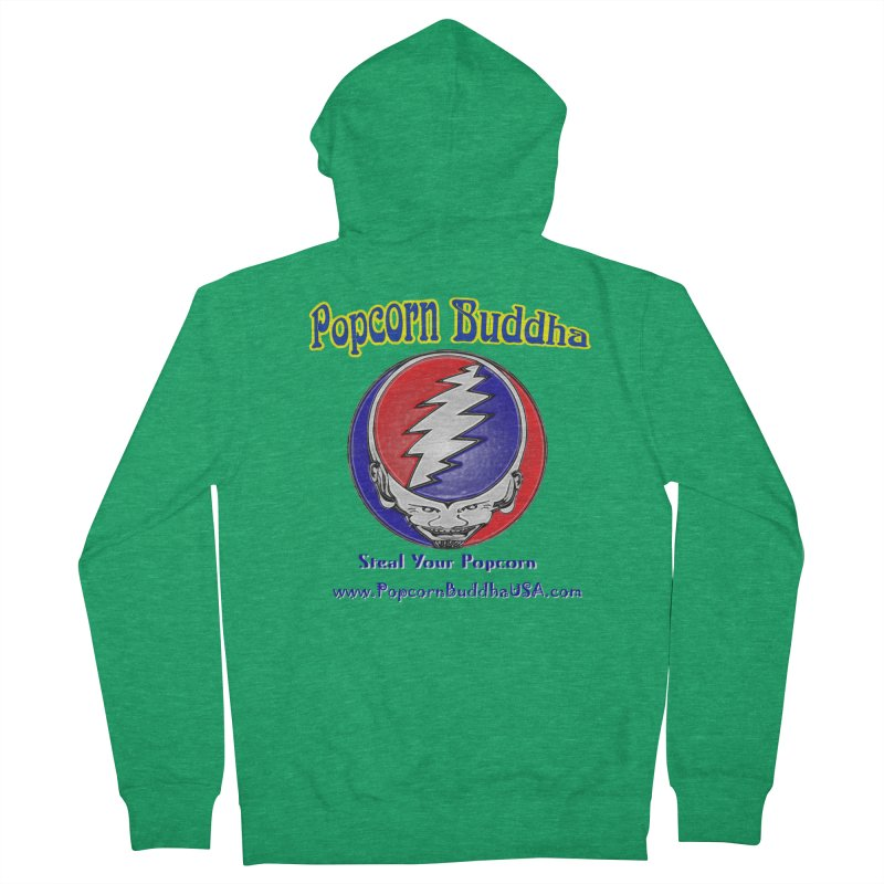 Steal your Popcorn Men's French Terry Zip-Up Hoody by Popcorn Buddha Merchandise