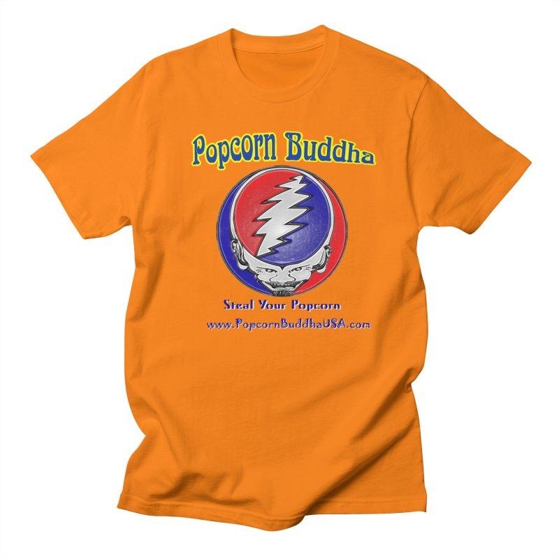 Steal your Popcorn Men's T-Shirt by Popcorn Buddha Merchandise