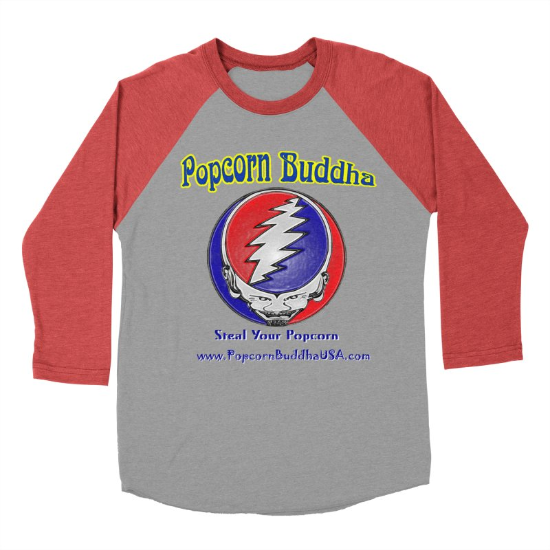 Steal your Popcorn Men's Longsleeve T-Shirt by Popcorn Buddha Merchandise