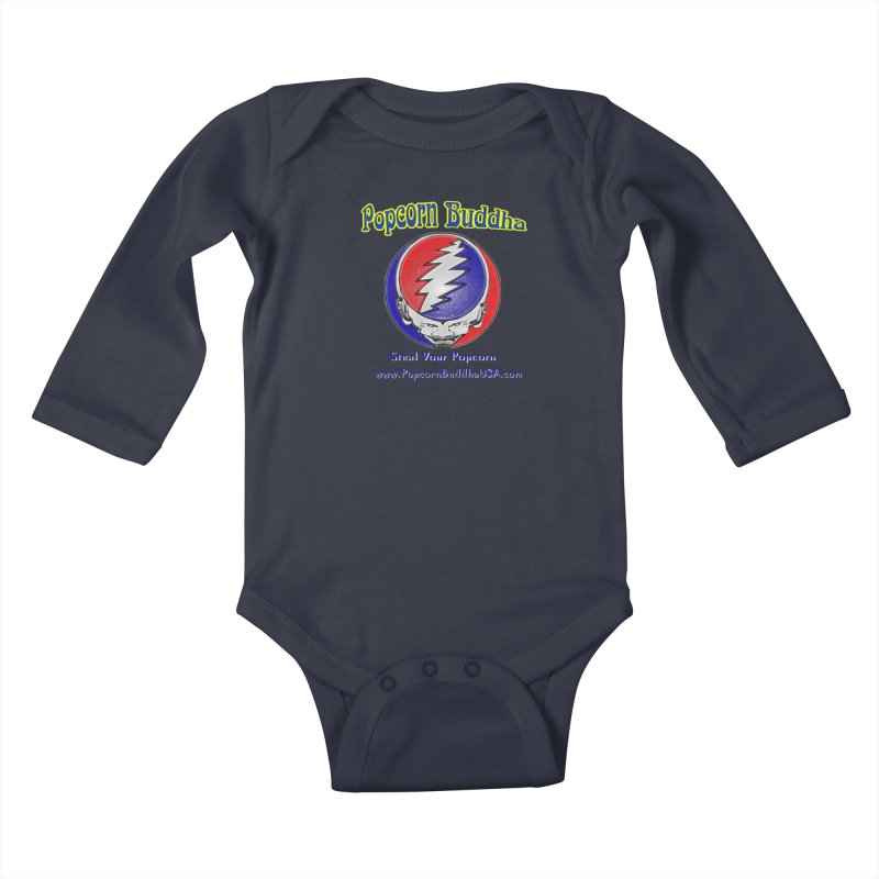 Steal your Popcorn Kids Baby Longsleeve Bodysuit by Popcorn Buddha Merchandise