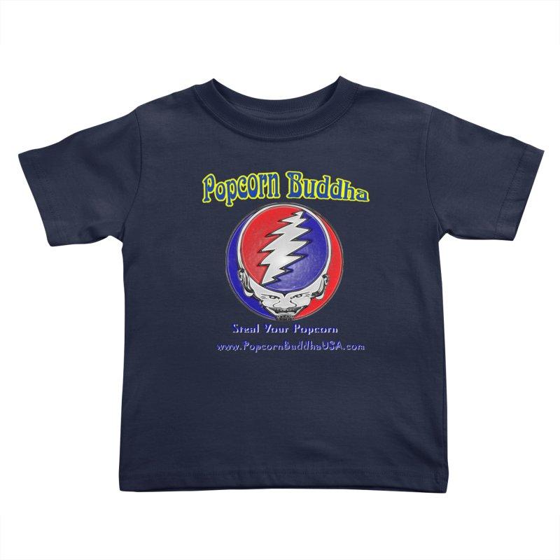 Steal your Popcorn Kids Toddler T-Shirt by Popcorn Buddha Merchandise