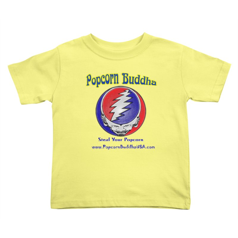 Steal your Popcorn Kids Toddler T-Shirt by Popcorn Buddha Merchandise
