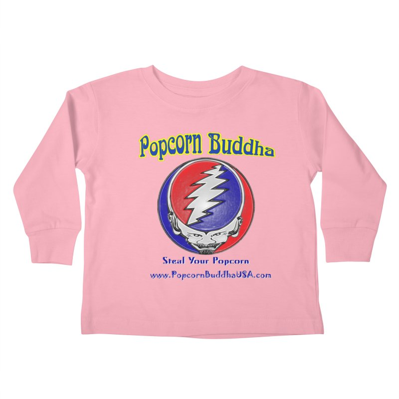 Steal your Popcorn Kids Toddler Longsleeve T-Shirt by Popcorn Buddha Merchandise
