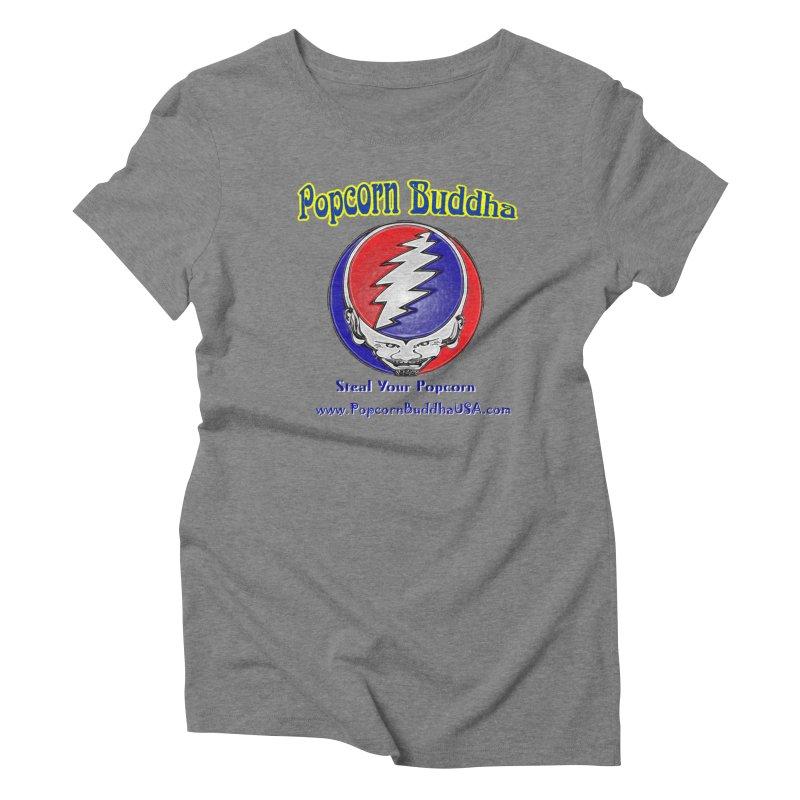 Steal your Popcorn Women's Triblend T-Shirt by Popcorn Buddha Merchandise