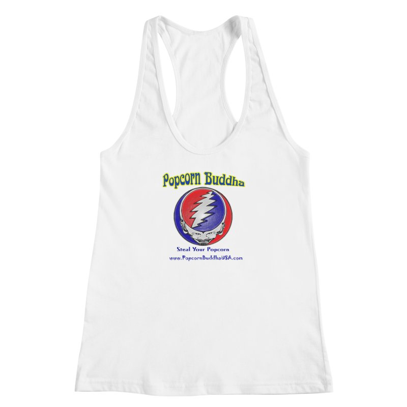 Steal your Popcorn Women's Racerback Tank by Popcorn Buddha Merchandise
