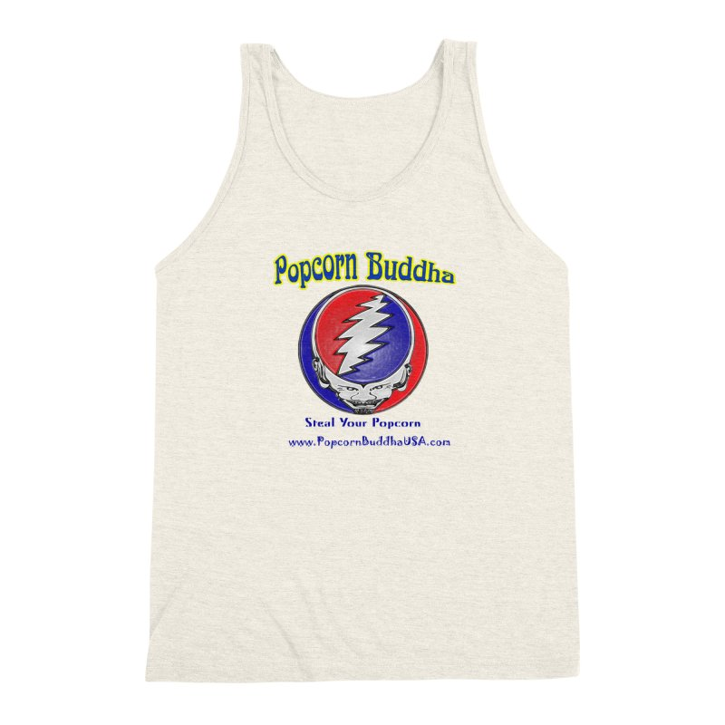 Steal your Popcorn Men's Triblend Tank by Popcorn Buddha Merchandise