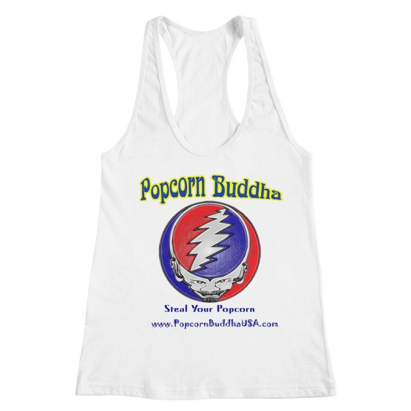 Steal your Popcorn Women's Racerback Tank by Popcorn Buddha Merchandise