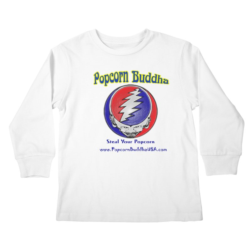 Steal your Popcorn Kids Longsleeve T-Shirt by Popcorn Buddha Merchandise