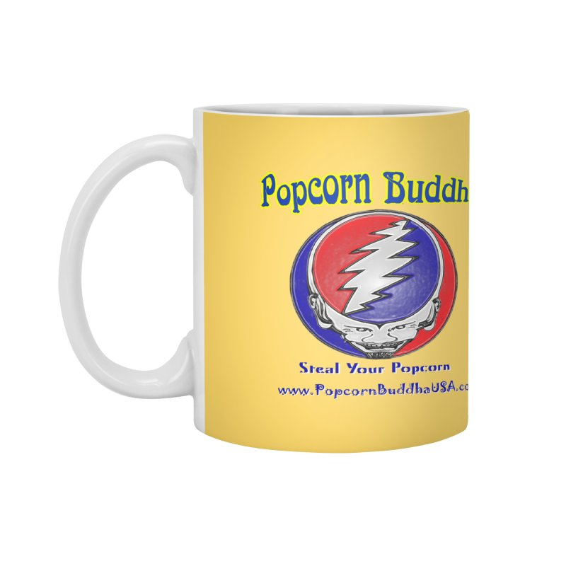 Steal your Popcorn Accessories Mug by Popcorn Buddha Merchandise