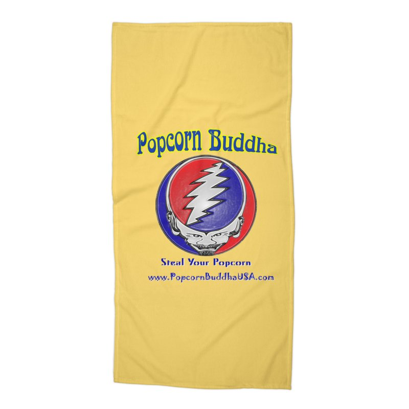 Steal your Popcorn Accessories Beach Towel by Popcorn Buddha Merchandise