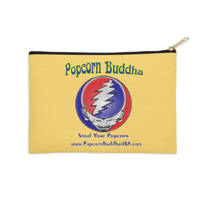 Steal your Popcorn Accessories Zip Pouch by Popcorn Buddha Merchandise