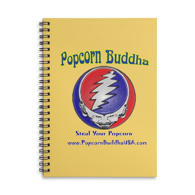 Steal your Popcorn Accessories Lined Spiral Notebook by Popcorn Buddha Merchandise