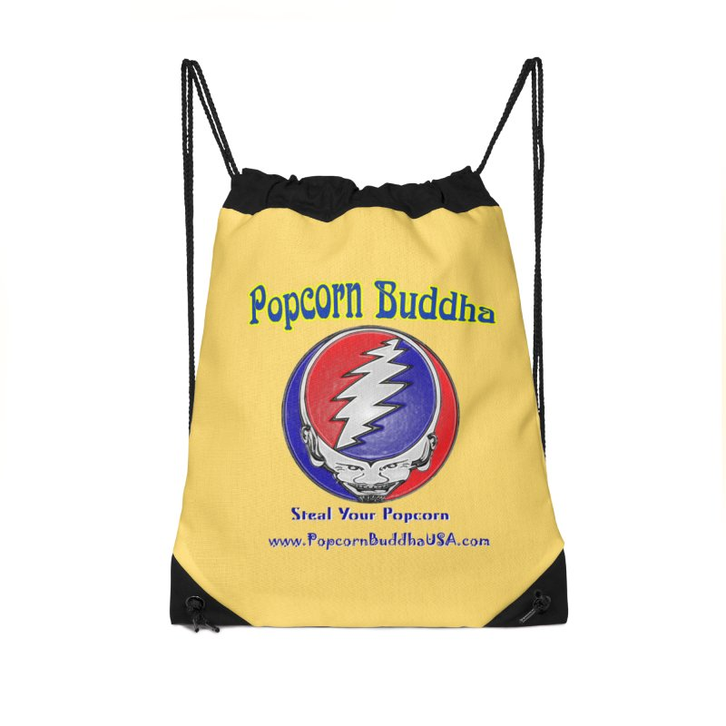 Steal your Popcorn Accessories Drawstring Bag Bag by Popcorn Buddha Merchandise