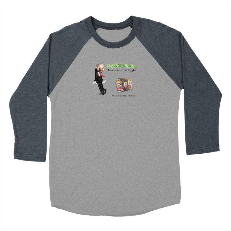 Love at First Sight Men's Baseball Triblend Longsleeve T-Shirt by Popcorn Buddha Merchandise
