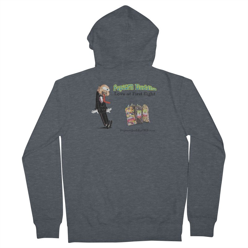 Love at First Sight Women's French Terry Zip-Up Hoody by Popcorn Buddha Merchandise