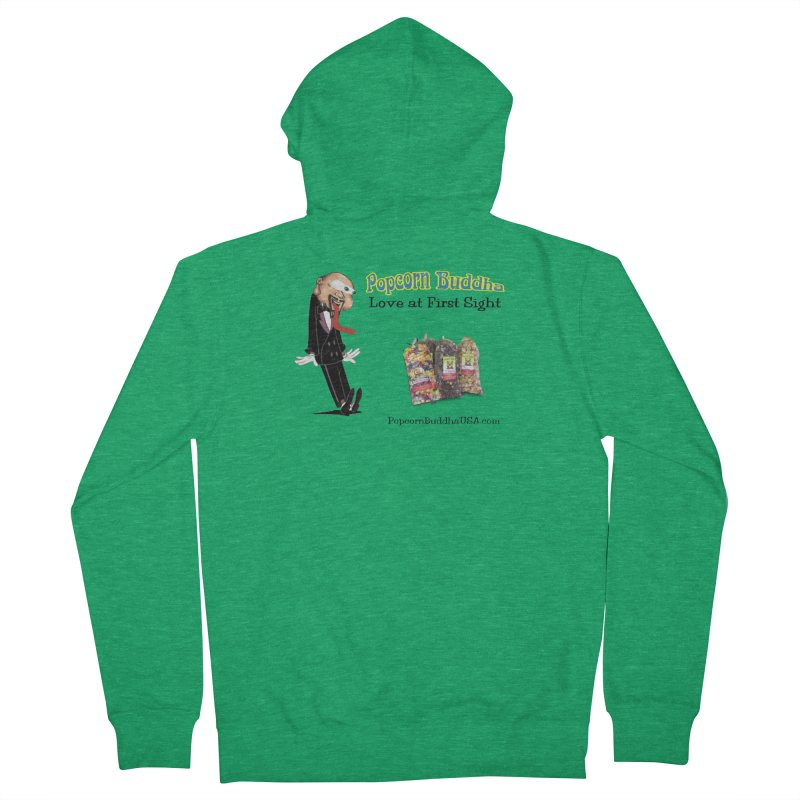 Love at First Sight Men's French Terry Zip-Up Hoody by Popcorn Buddha Merchandise