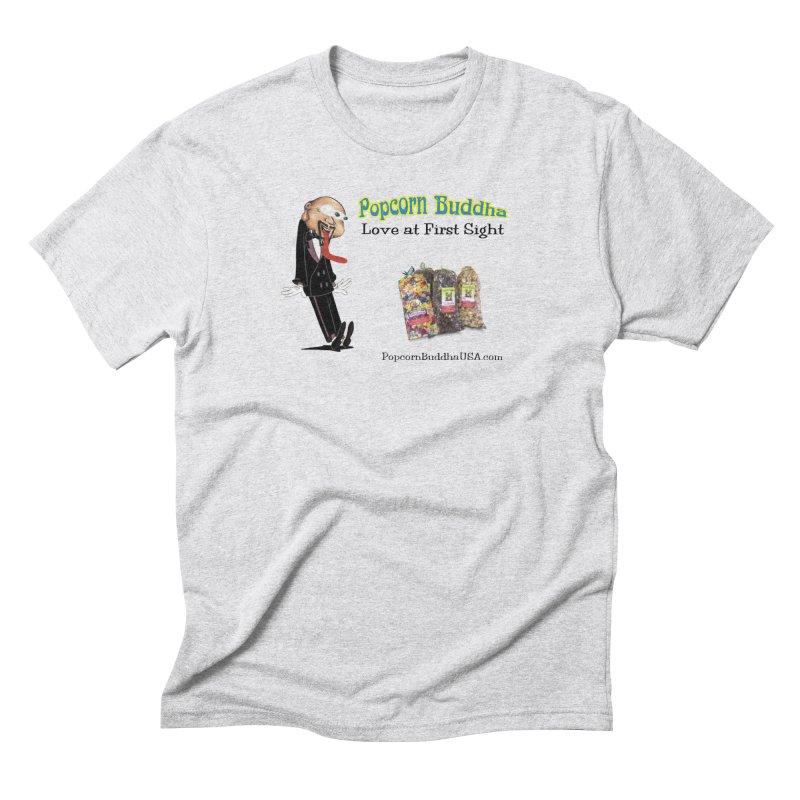 Love at First Sight Men's Triblend T-Shirt by Popcorn Buddha Merchandise