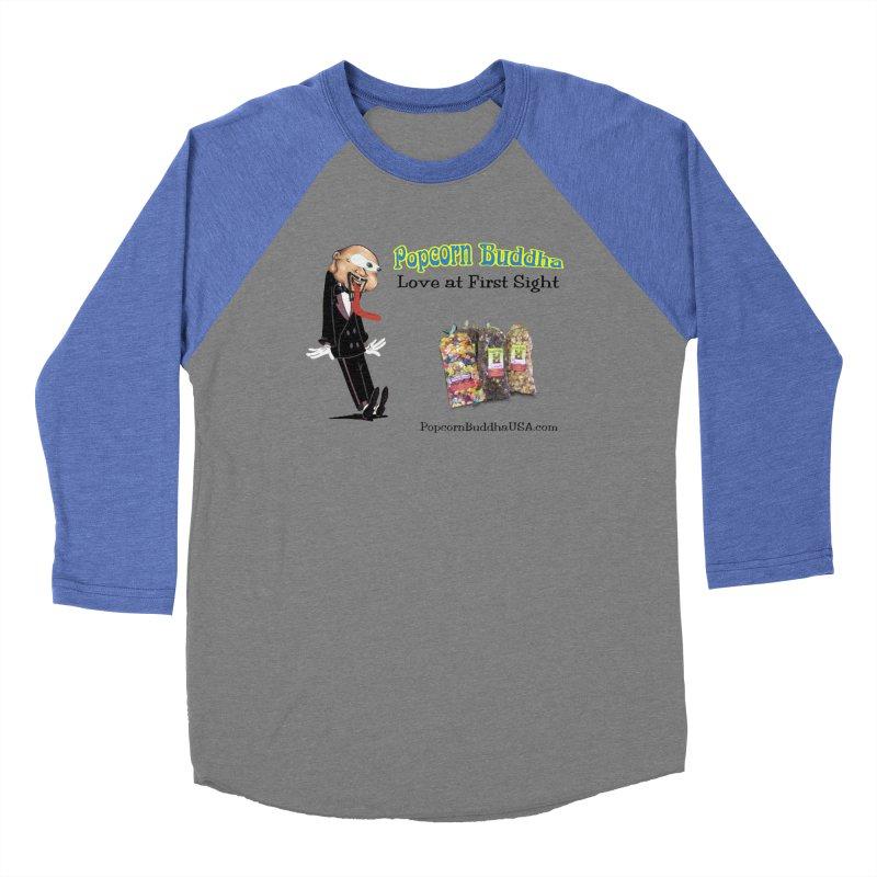 Love at First Sight Women's Baseball Triblend Longsleeve T-Shirt by Popcorn Buddha Merchandise