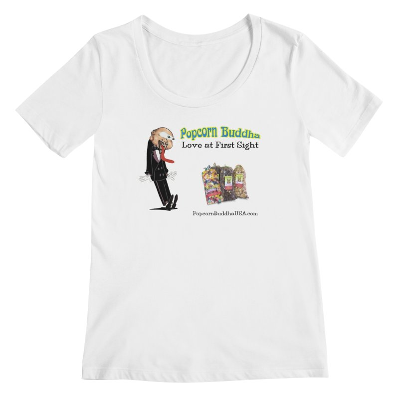 Love at First Sight Women's Regular Scoop Neck by Popcorn Buddha Merchandise