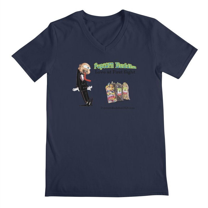 Love at First Sight Men's Regular V-Neck by Popcorn Buddha Merchandise