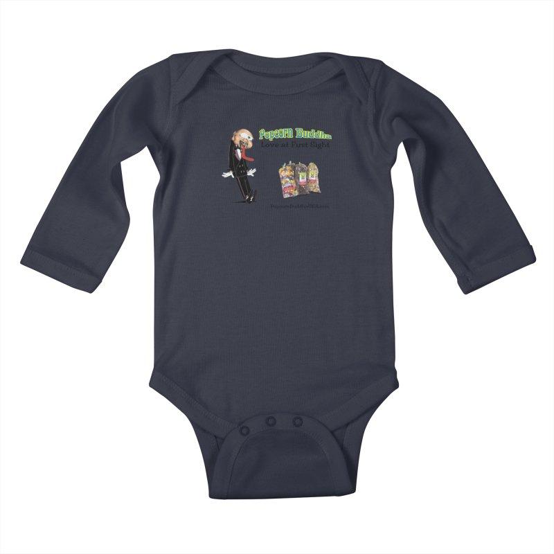 Love at First Sight Kids Baby Longsleeve Bodysuit by Popcorn Buddha Merchandise
