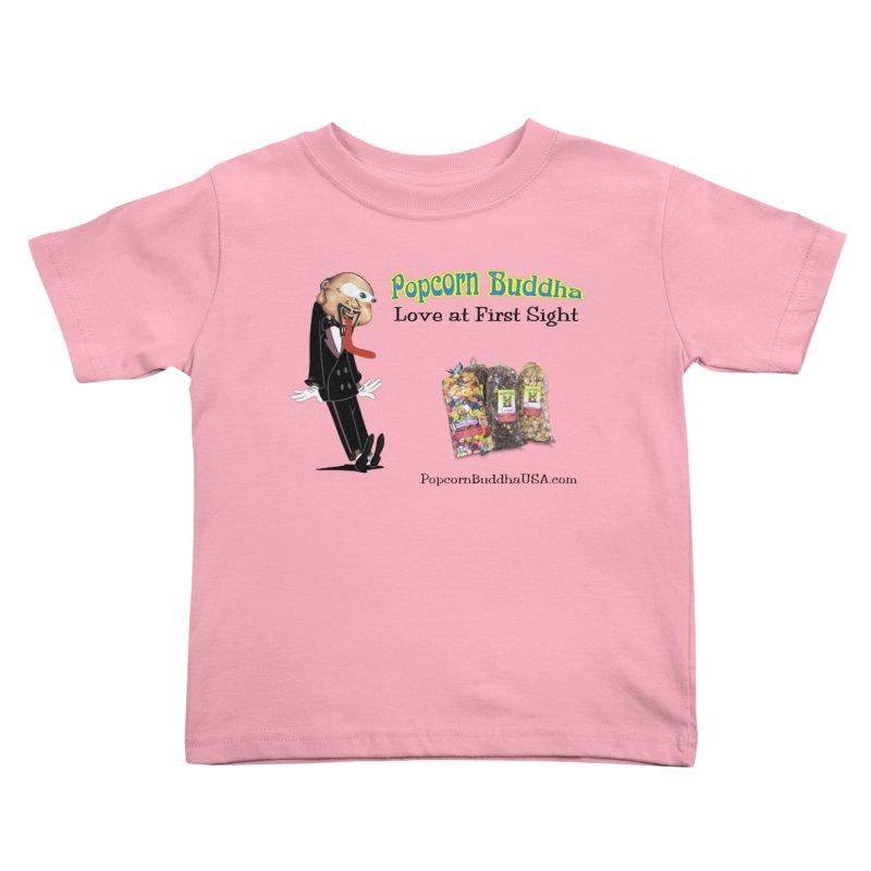 Love at First Sight Kids Toddler T-Shirt by Popcorn Buddha Merchandise