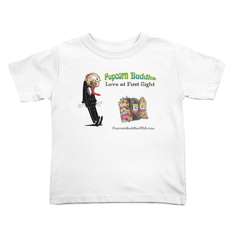 Love at First Sight Kids Toddler T-Shirt by Popcorn Buddha Merchandise