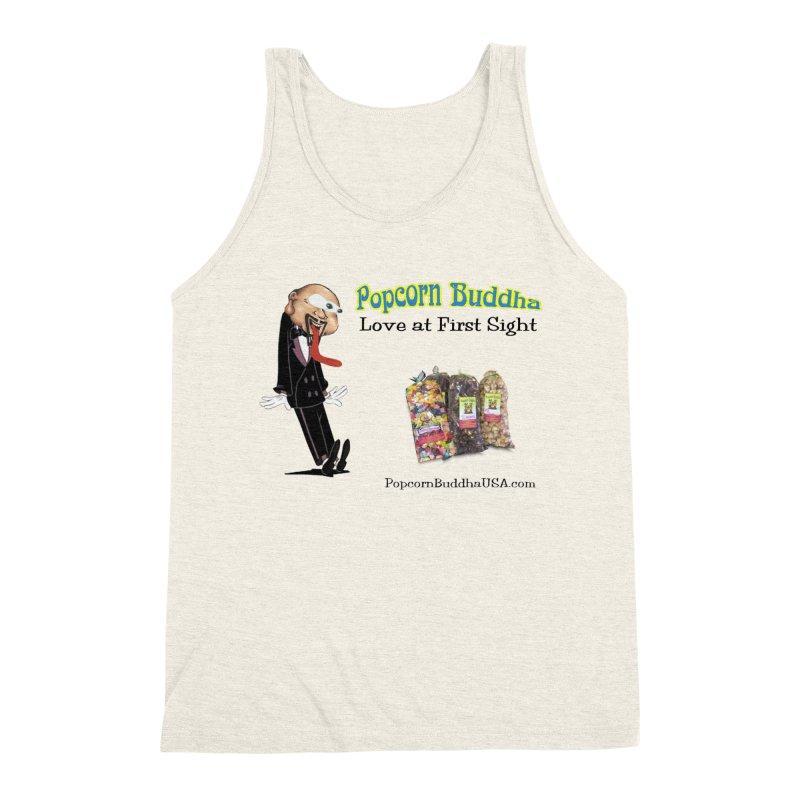 Love at First Sight Men's Triblend Tank by Popcorn Buddha Merchandise