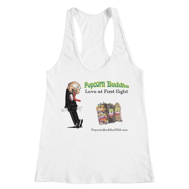 Love at First Sight Women's Racerback Tank by Popcorn Buddha Merchandise