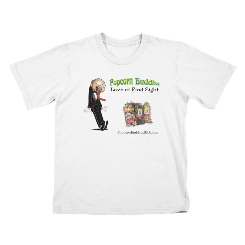 Love at First Sight Kids T-Shirt by Popcorn Buddha Merchandise