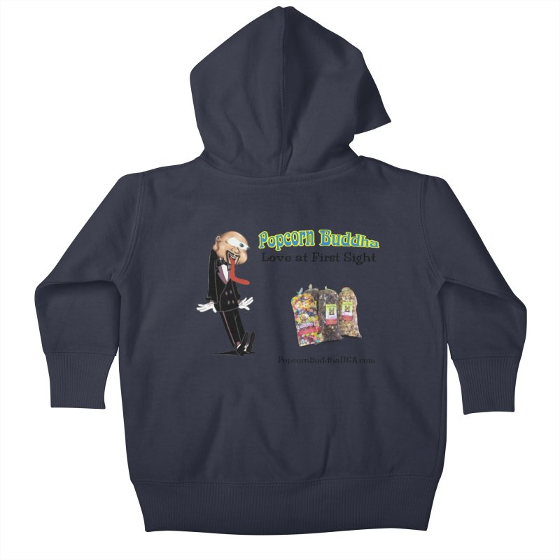 Love at First Sight Kids Baby Zip-Up Hoody by Popcorn Buddha Merchandise