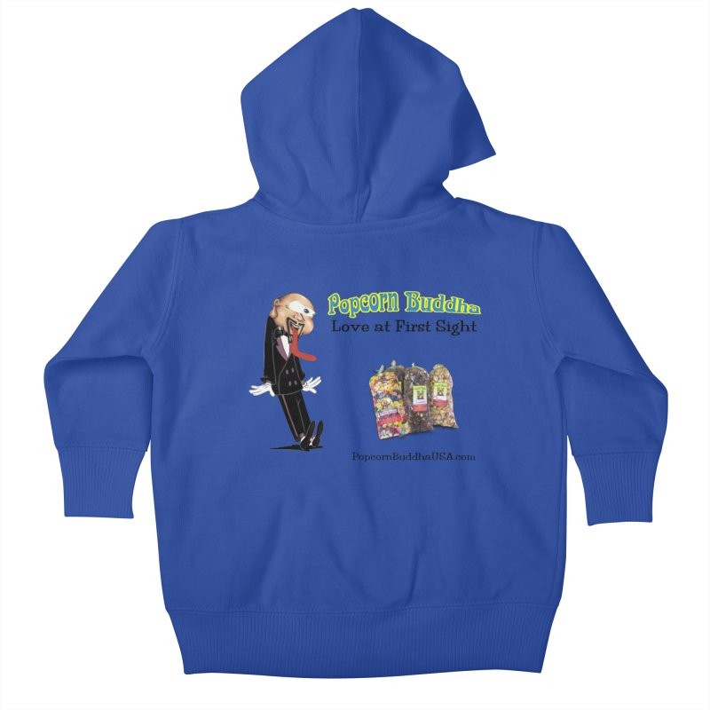 Love at First Sight Kids Baby Zip-Up Hoody by Popcorn Buddha Merchandise