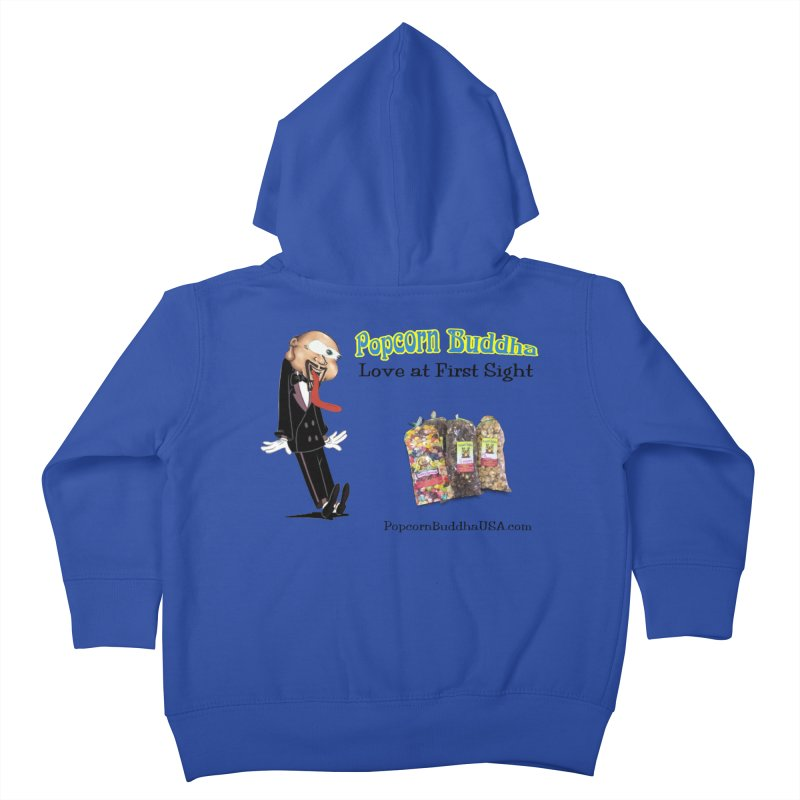 Love at First Sight Kids Toddler Zip-Up Hoody by Popcorn Buddha Merchandise